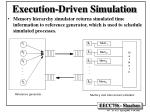 execution driven simulation
