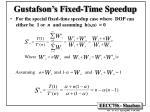 gustafson s fixed time speedup