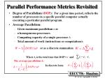 parallel performance metrics revisited