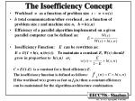 the isoefficiency concept
