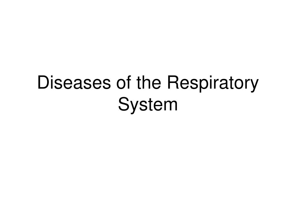 diseases of the respiratory system l.