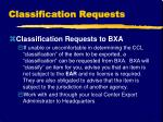 classification requests