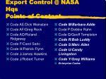 export control @ nasa hqs points of contact