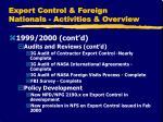 export control foreign nationals activities overview