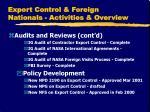 export control foreign nationals activities overview2