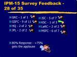 ipm 15 survey feedback 28 of 35