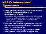 nasa s international agreements