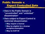 public domain v export controlled data