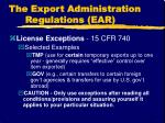 the export administration regulations ear2