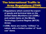 the international traffic in arms regulations itar1