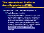 the international traffic in arms regulations itar10
