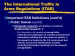 the international traffic in arms regulations itar11