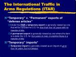 the international traffic in arms regulations itar12