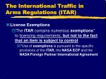 the international traffic in arms regulations itar16