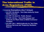 the international traffic in arms regulations itar17