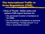 the international traffic in arms regulations itar19