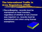 the international traffic in arms regulations itar20