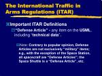 the international traffic in arms regulations itar3