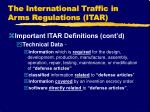 the international traffic in arms regulations itar5