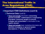 the international traffic in arms regulations itar6