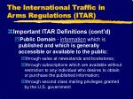 the international traffic in arms regulations itar7
