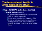 the international traffic in arms regulations itar8