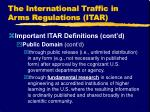 the international traffic in arms regulations itar9