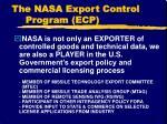 the nasa export control program ecp