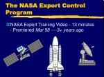 the nasa export control program1