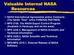 valuable internal nasa resources