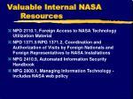 valuable internal nasa resources1