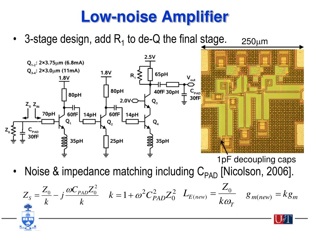 low noise amplifier and design