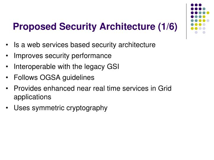 Proposed Security Architecture (1/6)