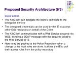 proposed security architecture 6 6