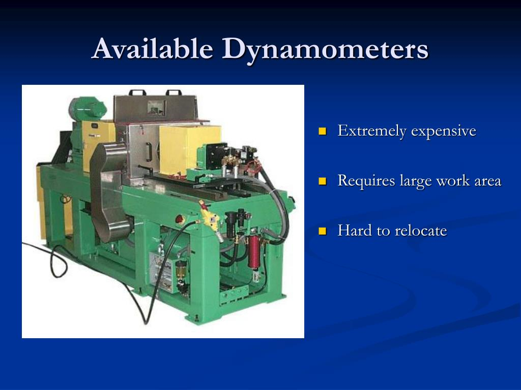 Available Dynamometers