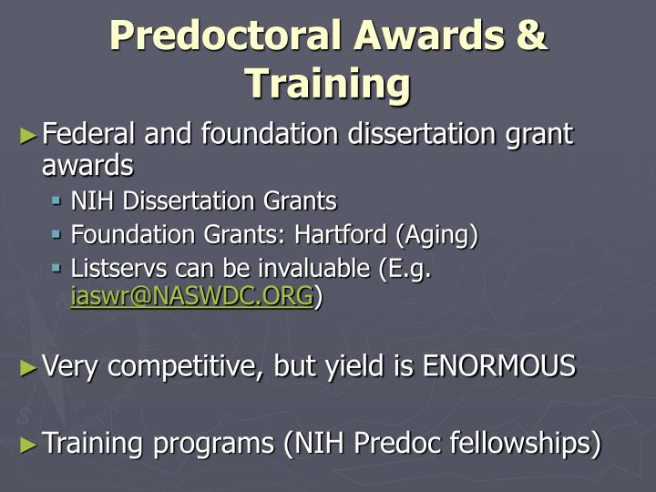 Predoctoral Awards & Training