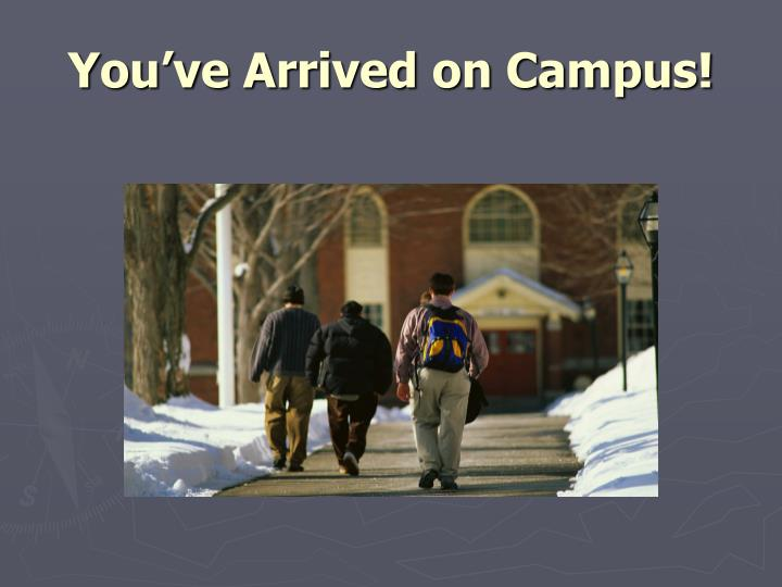 You've Arrived on Campus!