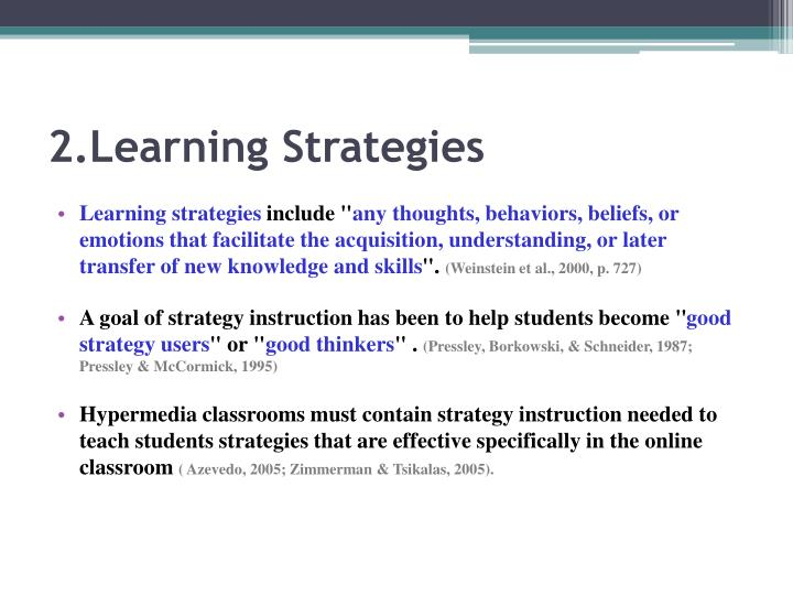 2 learning strategies