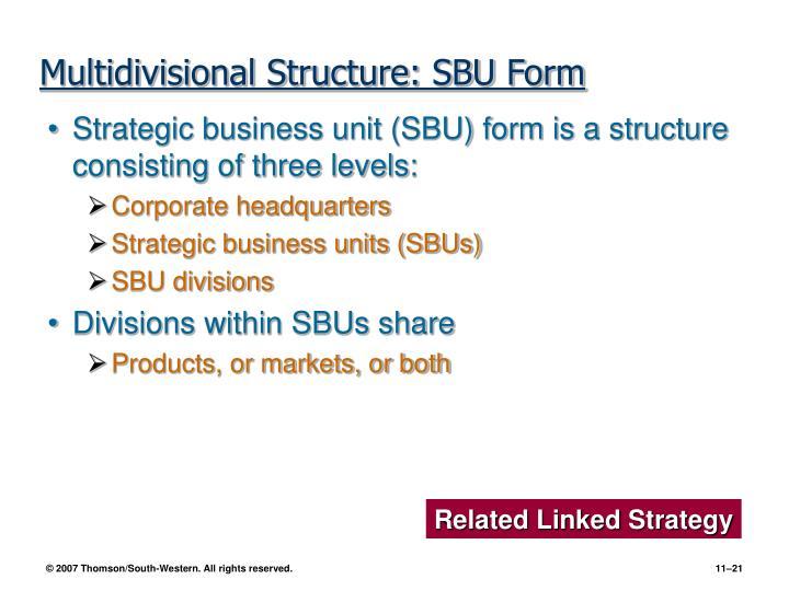 Multidivisional Structure: SBU Form