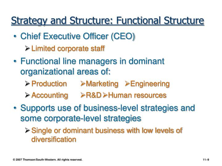 Strategy and Structure: Functional Structure