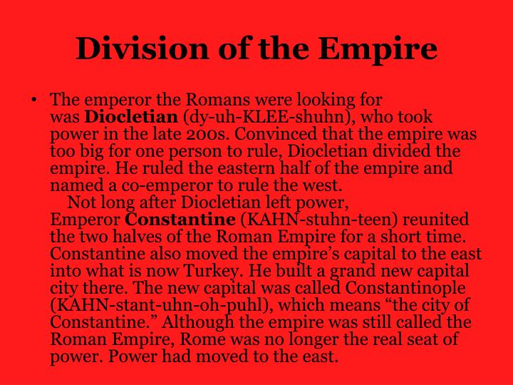 Division of the Empire