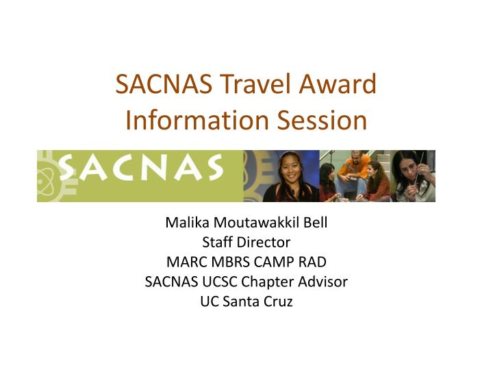 sacnas travel award information session n.