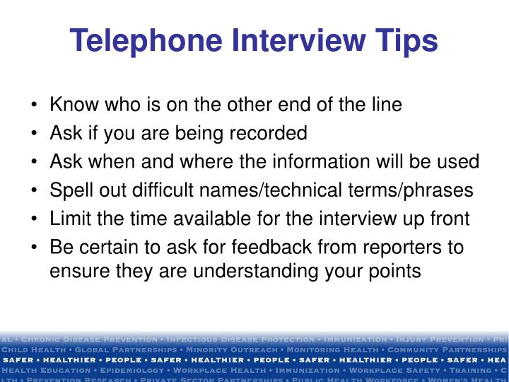 Telephone Interview Tips