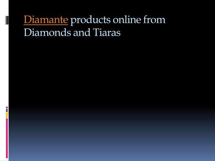 diamante products online from diamonds and tiaras n.