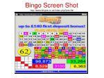 bingo screen shot http www bingos co uk index php pid 8