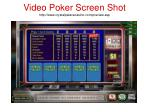 video poker screen shot http www crystalpalacecasino com preview asp