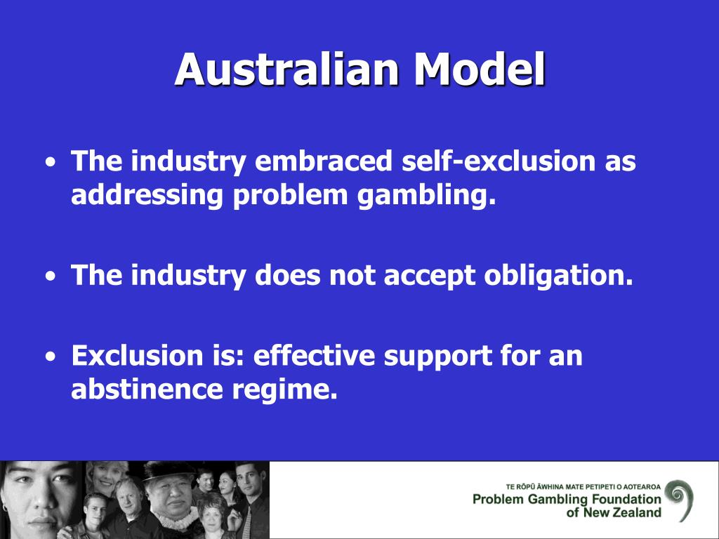 The industry embraced self-exclusion as addressing problem gambling.