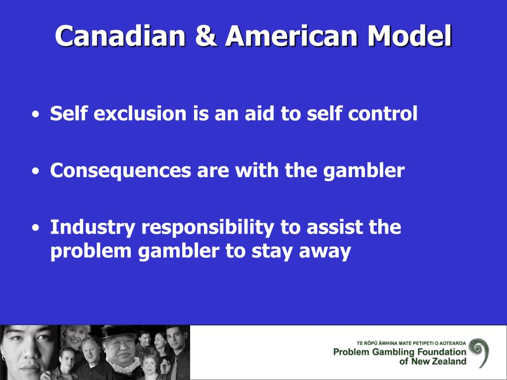 Self exclusion is an aid to self control