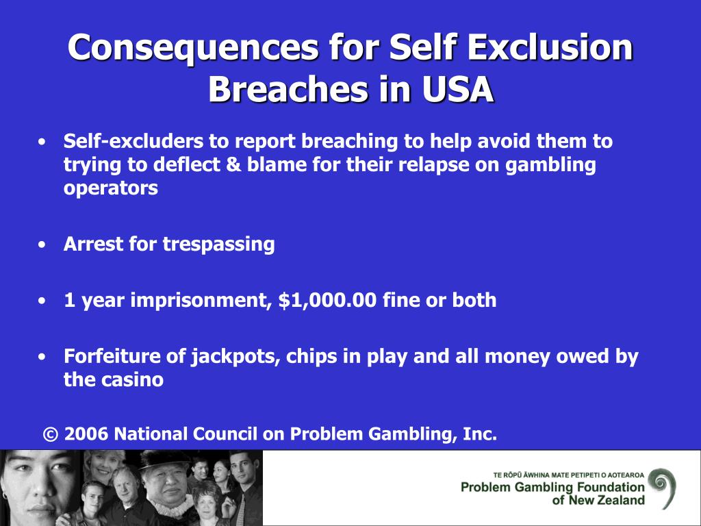 Self-excluders to report breaching to help avoid them to trying to deflect & blame for their relapse on gambling operators