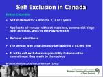 self exclusion in canada
